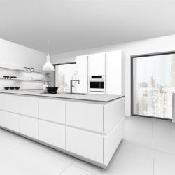 Greeploos witte keuken Van Duijsen