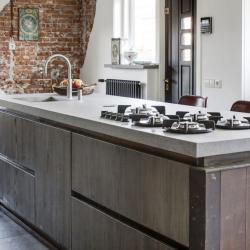 Greeploos houten keuken Van Duijsen